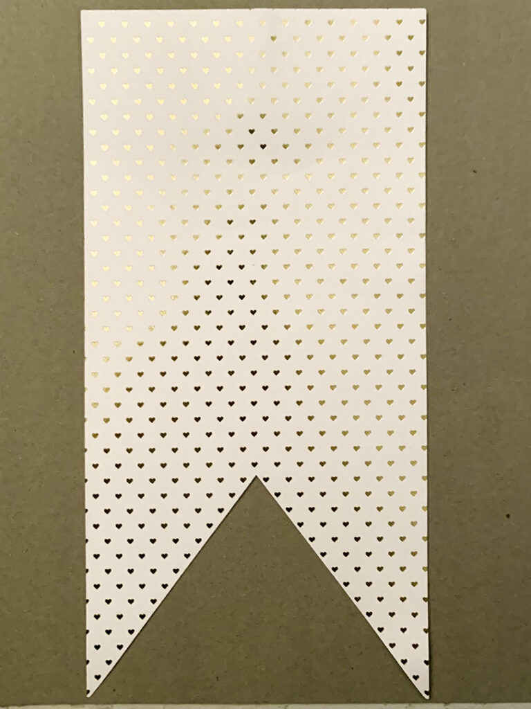 Swallowtail-shaped flag made of cardstock for gradation banner.